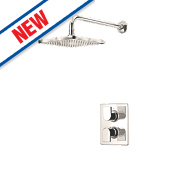 Moretti Lorin Thermostatic Dual Control Mixer Shower Built-In Chrome