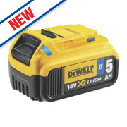 DeWalt DCB184B-XJ 18V XR 5.0Ah Li-Ion Tool Connect Bluetooth Battery