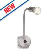 Brilliant Loona Flexible GU10 LED Wall Light Satin Chrome 3W 240V