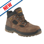 DeWalt Challenger Safety Boots Brown Size 10
