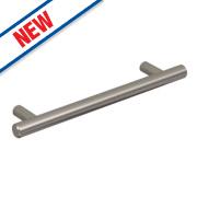 Hafele Barkston Bar Handle Brushed Nickel 356mm