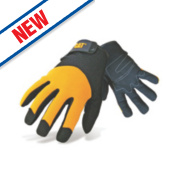 Cat Padded Palm Gloves Yellow Large