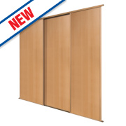 Spacepro 3 Door Panel Sliding Wardrobe Doors Beech 2692 x 2260mm
