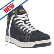 Site Norite Hi-Top Safety Trainers Black Size 11