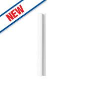 Gloss White Slab Kitchen Wall Corner Coversion Kit 92 x 44 x 738mm