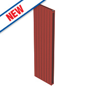 Moretti Modena Double Panel Vertical Designer Radiator Red 1800 x 433mm