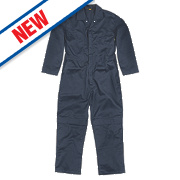 "Site Hammer Coverall Navy Medium 49"" Chest 31"" L"