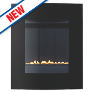 Focal Point Ebony Black Rotary Control Gas Wall-Hung Flueless Fire