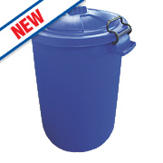 Stockshop Wolseley Feed Storage Bin Polypropylene Blue 80Ltr
