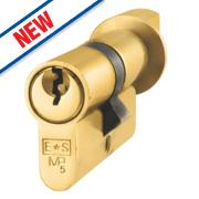 Eurospec Keyed Alike Euro Cylinder Thumbturn Lock 60-40 (100mm) Polished Brass