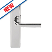 Urfic Westminster Latch Door Handles Pair Polished Nickel