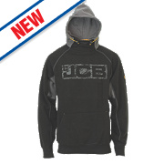 "JCB Hoodie Black/Grey Large 41"" Chest"
