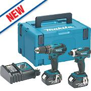 Makita DLX2012MJ 18V 4.0Ah Li-Ion LXT Combi Drill & Impact Driver Twin Pack