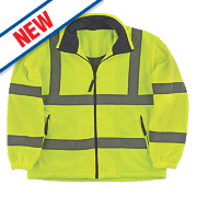 Portwest F300 Hi-Vis Mesh Lined Fleece Yellow / Orange X Large