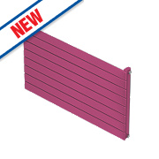 Moretti Modena Single Panel Horizontal Radiator Magenta 578 x 800mm