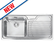Franke Inset Kitchen Sink Stainless Steel 1 Bowl & Right Hand Drainer 1000 x 500mm