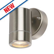 Bronx Brushed Stainless Steel Wall Light 35W