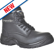 Composite Lite Fur-Lined Cold Insulation Safety Boots Black Size 11