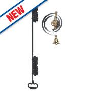 Byron Mechanical Butlers Bell Kit Black/Brass