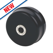 Byron Wired Underdome Wall-Mounted Bell Black