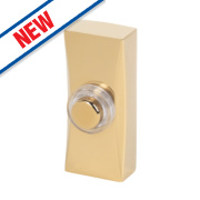 Byron Wired Bell Push Brass 95 x 30mm