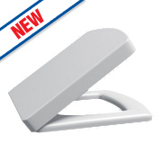 Supreme Square Soft-Close Toilet Seat Polypropylene White