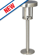 Ranex LED Solar Post Light Stainless Steel