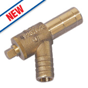 Hep²O Push-Fit Brass Drain Cock 15mm
