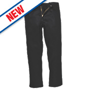 "Portwest Bizweld Trousers Black 41"" W 31"" L"
