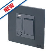 ABB 13A Switched 1G Fused Connection Unit w/ LED Silk Black