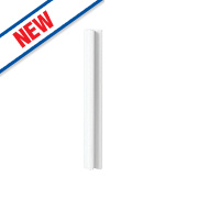 Gloss White Handleless Kitchen Wall Corner Conversion Kit 92 x 44 x 738mm