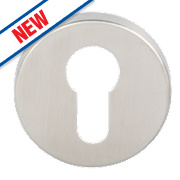 Eurospec Euro Profile Escutcheons Satin Stainless Steel 54mm Pack of 2