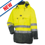 Helly Hansen Potsdam Hi-Vis Shell Jacket Yellow/Charcoal XL 45½
