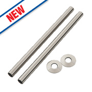 Arroll Pipe Shroud Kit Brushed Nickel 300 x 18mm