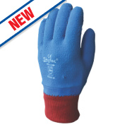 Skytec Helium Latex-Coated Grip Gloves Blue/Red X Large