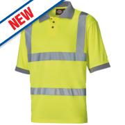 Dickies SA22075 Hi-Vis Polo Shirt Saturn Yellow Large 46
