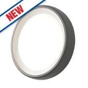 Zinc Miranda LED Round Bulkhead Anthracite Grey 9W