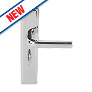 Urfic Westminster Bathroom Door Handles Pair Polished Nickel