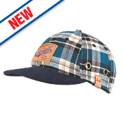 Scruffs Bump Cap Blue Check