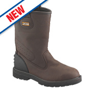 JCB Trackpro Rigger Boots Brown Size 8
