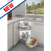 Hafele Pull-Out Storage Tray Unit Silver/White