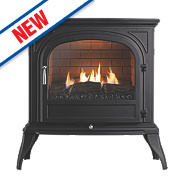 Focal Point Dalvik Black Gas Flueless Stove