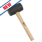 Forge Steel Ash Wood Handle Black Rubber Mallet 24oz