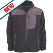 Site Teak Fleece Jacket Black Medium 38-40