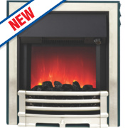 Be Modern Aspen Contemporary Electric Inset Fire Chrome Finish 2kW