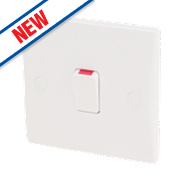 Schneider Electric Ultimate 1-Gang DP 20A Switch White