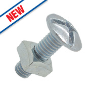 Easyfix Roofing Bolts Bright Zinc-Plated M6 x 25mm 10 Pack