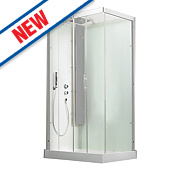 Saniflo Kinedo Horizon Slider Door All-In-One Shower Enclosure 1100 x 800mm