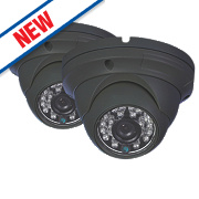 Swann PRO-A850 Clear HD Dome Security Cameras Pack of 2
