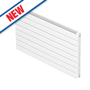 Moretti Modena Double Panel Horizontal Designer Radiator White 578x800mm
